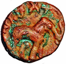 ANCIENT - SATAVAHANA EMPIRE -SRI SATAKARNI (1st CE.) KARSHAPANA -ELEPHANT #SAT19