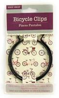 Bike Clips Bicycle Cycle Pair of Black Trouser Steel Protective Cycling Clips