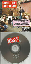 Jack's Mannequin SOMETHING CORPORATE Sampler PROMO CD Single w/ TOUR STICKER