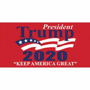 President Trump 2020 Keep America Great Red Beach Towel