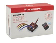 Hobbywing QuicRun 1080 Waterproof Brushed 80A ESC + Program Card For Crawler