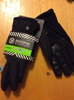 $48 Isotoner  Womens Tessa Nylon Thermaflex SmarTouch Tech Gloves XL BB27