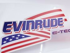 LOT of (2) Evinrude Decals Transparant White Clear 7""
