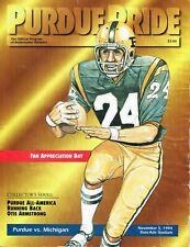 Purdue Boilermaker Football Program - vs. Michigan, November 5, 1994