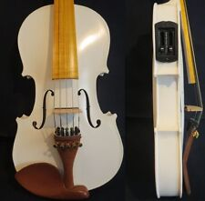 """Guarneri style solid wood White colors electric & acoustic 5 strings viola 16"""""""