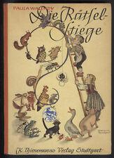 """KINDERBUCH ca. 1955 """"Rätselstiege"""" sehr schön illustriert ORIGINAL!"""