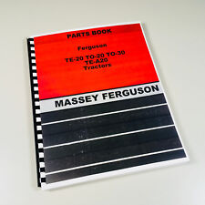 HARRY MASSEY FERGUSON TO-30 TO-20 TE-20 TRACTOR PARTS MANUAL BOOK 20 30 MF