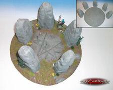 Piedras erguidas 28 Mm Wargames Resina Paisaje / Magic Rock Circle / Warhammer