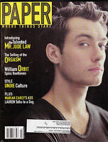 Paper Magazine Jude Law William Orbit Mariah Carey  February  2000
