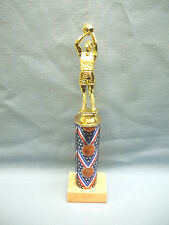 team lot of 9 male basketball trophies theme column wood base blue ribbon
