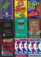 25 to20 year old BASKETBALL cards 9 unopened packs + 7 star cards137 total cards