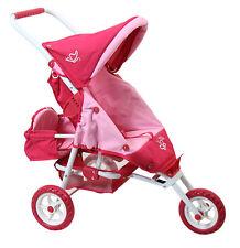 Valco Girls PINK Butterfly Mini Marathon Dolls Stroller 3 Wheel Jogger & Seat