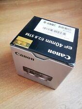 Canon EF 40mm f/2.8 STM Lens Pancake Black Lens Boxed - opened but never used