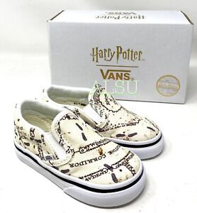 VANS Classic Slip-On Harry Potter Canvas Beige Toddler Kid's VN0A4BUZV3C