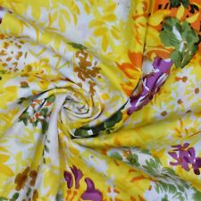 """Decorative Indian Cotton Fabric 42"""" Wide Yellow Sewing Material By The Yard"""
