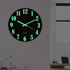 Orologio parete legno Numero luminoso Orologi appendere Quiet Dark Home Decor