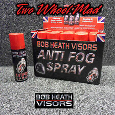 Bob Heath Visors Anti Fog Motorcycle Motorbike Helmet Visor Spray 1x 50ml Can