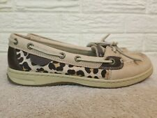 Sperry Womens Leopard Print Topsider Casual Boat Shoes Size 7.5 M