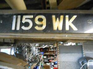 VINTAGE OLD CAR NUMBER PLATE 1159 WK