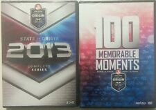 STATE OF ORIGIN 2013 COMPLETE SERIES QLD / NSW NRL+100 MEMORABLE MOMENTS SEALED