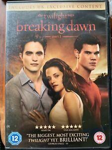 Crepúsculo Saga Breaking Dawn 1 DVD 2012 Vampiro Hombre Lobo Película de Terror