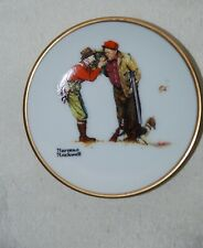Norman Rockwell Mini Collector Plate #512 Costly Light Autumn 1950 Porcelain