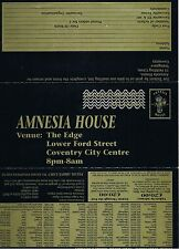 AMNESIA HOUSE Rave Flyer Flyers A4 31/12/93 The Edge (formerly eclipse) Coventry