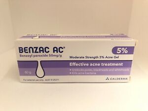 Benzac™ AC 5% Gel Skin Treatment Effective for Acne Pimples blackheads 60g