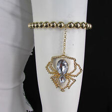 Arm Chain Elastic Bracelet Body Jewelry New Women Gold Metal Big Spider Beads