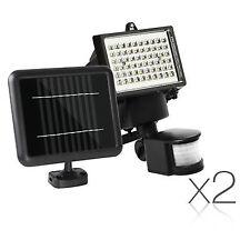 2x 60 LED Solar Sensor Light Outdoor Security Floodlights Garden Motion