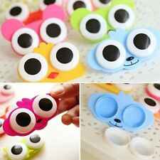 Chic Big Eyes Design Cleaning Travel Cute Animal Contact Case Storage Lens Box