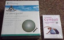 JOB LOT BUNDLE of Pilates Gym Ball and DVD - Brand New - Sealed