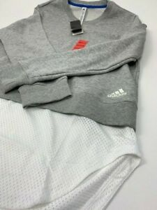 NEW NWT - Adidas Active Wear Pull Over Sweater w/ Mesh  Women's Size: M (Gray)