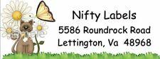 Daisy Mae Kitty Cat Return Address Labels Glossy Amp Matte
