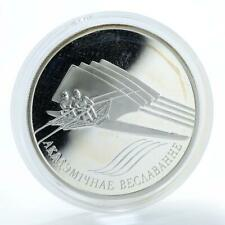 Belarus 20 rubles, Sculling, sport, silver proof coin 2005
