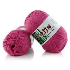 New 100% Bamboo Cotton Warm Soft Natural Knitting Rose pink Wool Yarn 50g