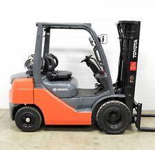 Nice! Toyota 5000 Lb Lpg Pneumatic Forklift Side Shift 8Fgu25 Air Tires
