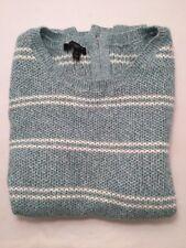 Talbots Women's Sweater Long Sleeve Top Shirt Blue White Striped Petite S/M