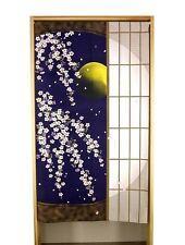 Japanese Noren Curtain Cherry blossom Moon Sliding door 850mm x 1500mm Japan