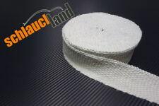 30m Keramik Hitzeschutzband 50mm weiss 1200°C *** Heat Wrap Hitzeschutzband