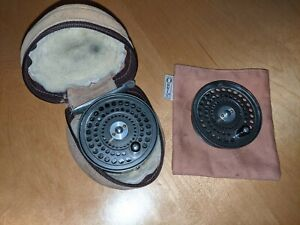 "Orvis CFO III 3"" Trout Fly Reel - Spare Spool & Pouches - Click and Pawl Action"
