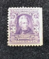 us stamps scott 302 MNH OG Good Center Small Crease
