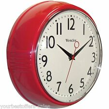 Westclox Retro Kitchen Wall Clock Kitchen Vintage Wall Clock Red Kitchen Supply