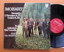 Mozart da serenatas K.375 y 388 Países Bajos Wind Ensemble casi como nuevo/en muy buena condición Philips 802 907 Ly