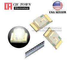 100pcs 1206 3216 White Light Smd Smt Led Diodes Emitting Ultra Bright Usa