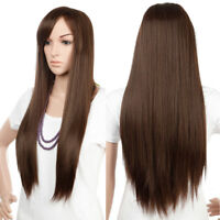 Wig Natural Fashion Cosplay Long Hair Curly Straight Wavy Full Wigs Black Red #z