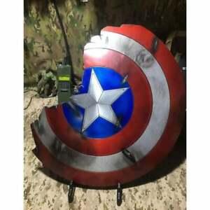 Captain America Broken Shield Metal Damage style Prop Replica Avengers Endgame