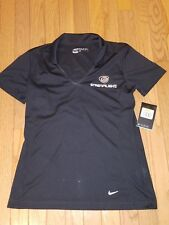 Nike Dri-Fit Womens Athletic Polo Nike Golf Small Short Sleeve Streamlight