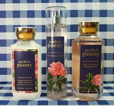Bath And Body Works (PERFECT PEONY) 3PC. Set, Mist, Lotion & Shower Gel~ NEW