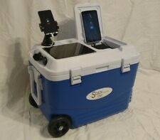 SOLAR LIFE Wheeled Cooler, Charge iPhone, Android, Blue Tooth and more